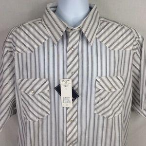 Wrangler Western Pearl Snap Short Sleeve Shirt